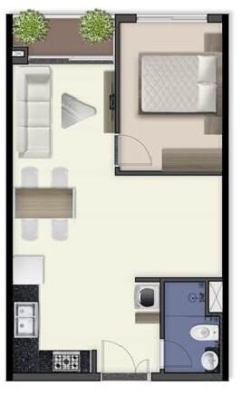 mẫu 1 phòng ngủ dự án internet an toàn cho trẻ tại q7 sai gon riverside complex