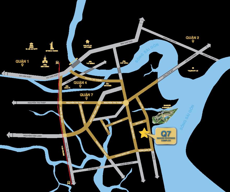 vị trí q7 sai gon riverside complex