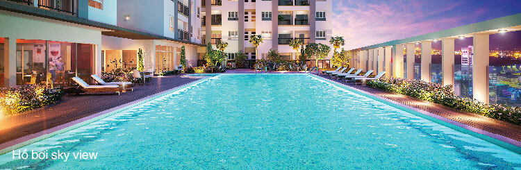 hồ bơi nội khu moonlight residences