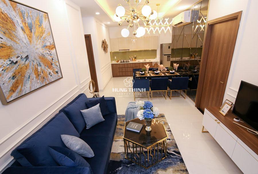 phòng khách căn hộ q7 sai gon riverside complex