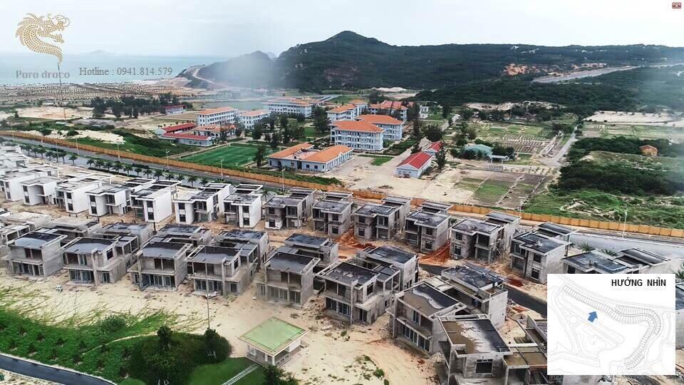 ảnh thực tế biệt thự đang xây thô